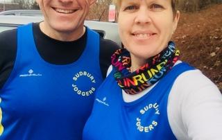 Steve Jeggo (left), Sarah Jeggo (right) at Haver10K 2018