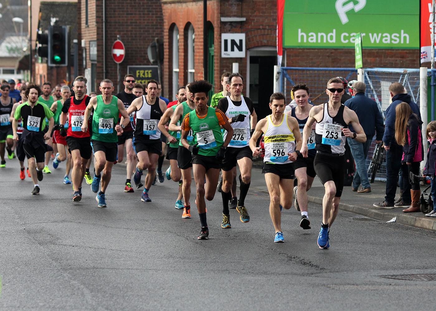Sudbury Fun Run 2018, the start