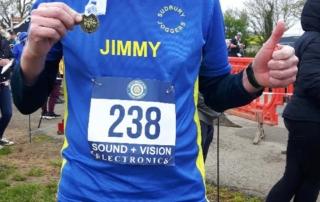 Jimmy Secker at the 2018 Frinton Half Marathon
