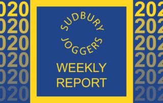 Sudbury Joggers Weekly Report